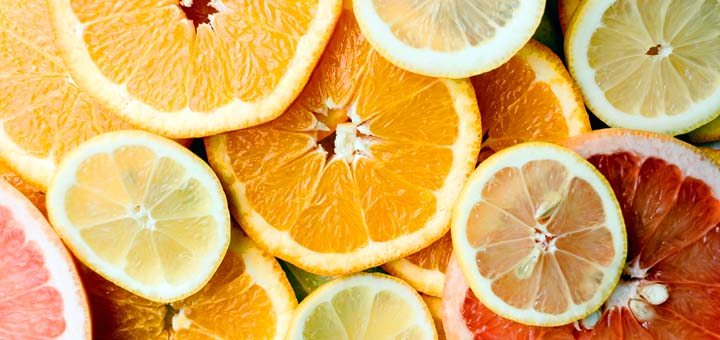 Citrus fruits are a good source of Vitamin C, being essential for iron absorption.
