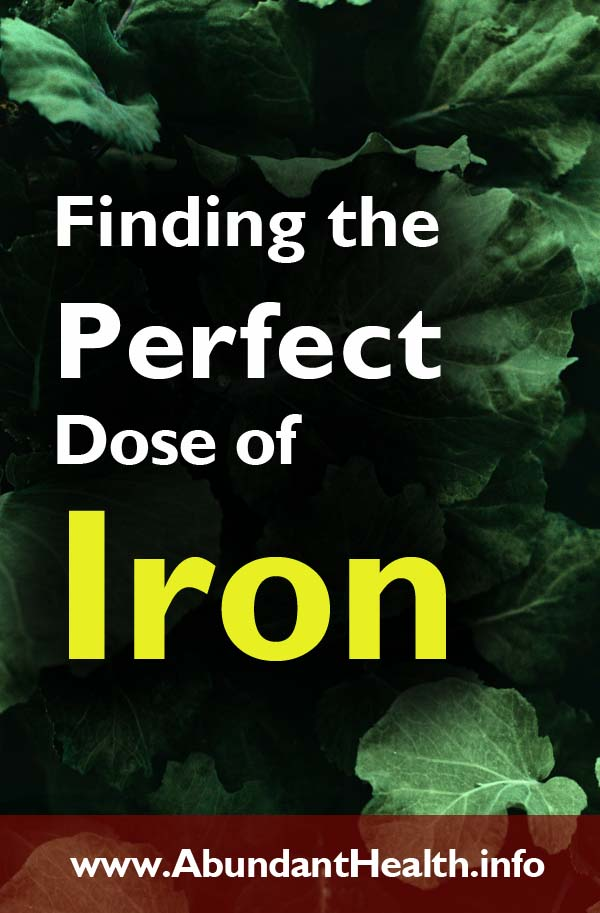 Finding the Perfect Dose of Iron
