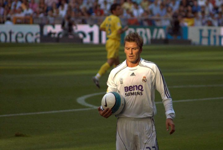 David Beckham playing for Real Madrid - By David Cornejo, CC 2.0 Wikipedia